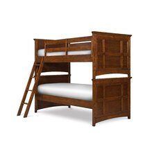 Riley Twin over Twin Panel Bunk Bed with Ladder