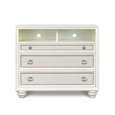 Diamond 3 Drawer Media Chest