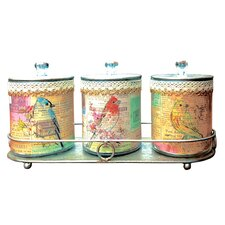 Gifts and Accessories So Pretty 36cm Storage Tins (Set of 3) (Set of 3)