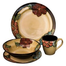 Gifts and Accessories Country Floral 16 Piece Dining Set