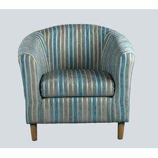 April Tub Chair in Teal Stripes