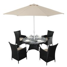Hamilton Round 4 Seater Dining Set