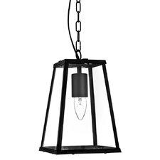 Laterns 1 Light Hanging Lantern in Black