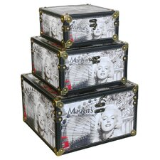 3 Piece Marilyn Monroe Scene Storage Box Set