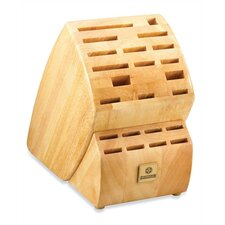 Solid Wood Block with 23 Slots