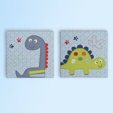 Banana Fish Little Dinos 2 Piece Wall Art