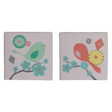 MiGi Modern Blossom 2 Piece Wall Art Set