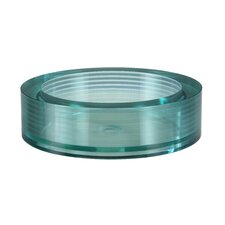 Segment Round Glass Vessel Bathroom Sink