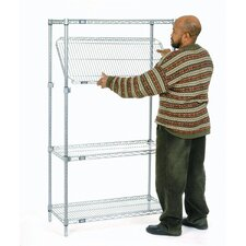 E-Z Adjust Wire 4 Shelf Shelving Unit Starter