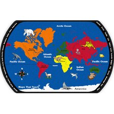 Maps That Teach Kids Rug