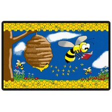 <strong>Flagship Carpets</strong> Educational Animal Busy Bee Kids Rug