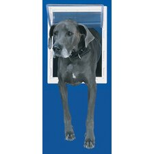 Extra Large White Aluminum Pet Door