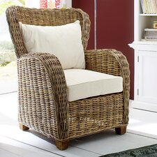 Wickerworks Queen Lounge Chair with Cushions