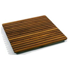 "Le Spa 24"" Square Teak Floor and Shower Tile in Oiled Finish"