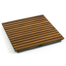 "Le Spa 19.7"" Square Teak Floor and Shower Tile in Oiled Finish"