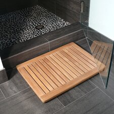 Le Spa Rectangular Floor Mat with Rounded Corners in Natural