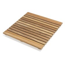 Le Spa Square Teak Shower Mat
