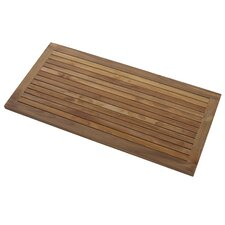 Greenface Rectangular Teak Floor and Shower Mat in Natural