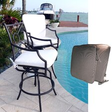 Cast Aluminum Counter Stool with Armrest (Set of 2)