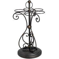 Ornate Metal Umbrella Stand