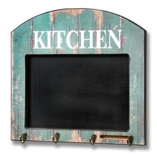 Kitchen Memo Board with Hooks