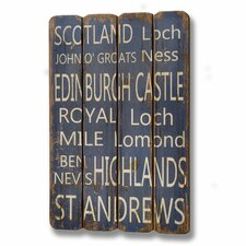 Wooden Scotland Wall Plaque