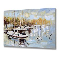 Cloudy Day Boat Canvas Art