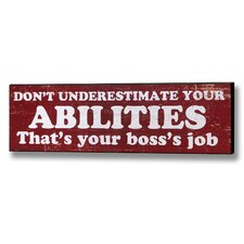 Abilities Wall Plaque