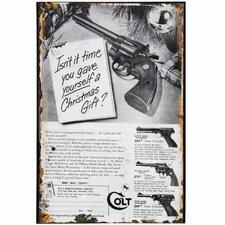 Christmas Colt Tin Sign