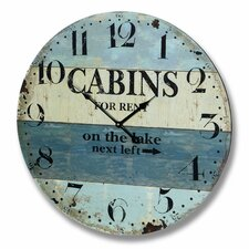 Cabins for Rent Beach Wall Clock