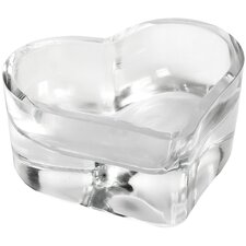 Small Glass Heart Tealight Holder