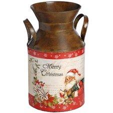 Christmas Milk Churn