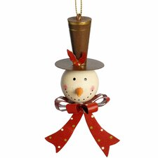 Hanging Snowman Head Tree Christmas Decoration
