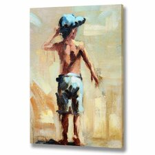 Boy at The Seaside Canvas Art