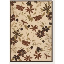 Urbane Botanical Garden Sand/TerraCotta Indoor/Outdoor Rug