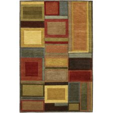 Pokhara Irridescent Blocks Multicolor Rug