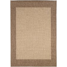 Recife Checkered Field Natural Cocoa Indoor/Outdoor Rug
