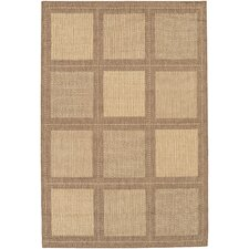 Recife Summit/NaturalCocoa Square Indoor/Outdoor Rug