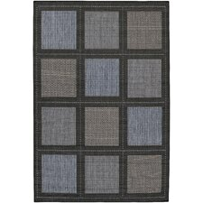 Recife Summit Blue/Black Indoor/Outdoor Rug