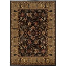 Royal Kashimar Cypress Garden Black/Deep Maple Rug