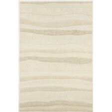 Super Indo-Natural Impressions White Stripe Area Rug
