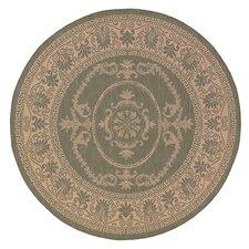 Recife Antique Medallion Green/Natural Indoor/Outdoor Area Rug