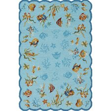 <strong>Couristan</strong> Outdoor Escape Aqua Coral Dive  Rug