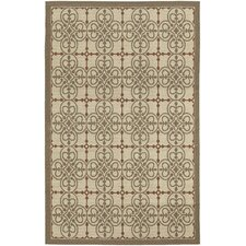 Five Seasons Cream / Coral Red Delray Rug