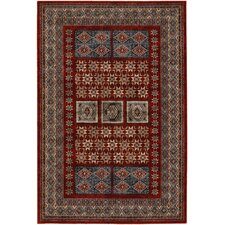 Timeless Treasures Burgundy Royal Kazak Rug