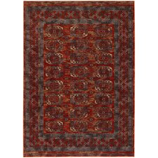 Timeless Treasures Rust Afghan Panel Rug