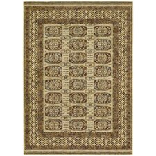 Timeless Treasures Antique Cream Afghan Panel Rug