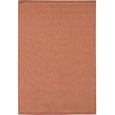 Recife Saddle Stitch/TerracottaNatural Indoor/Outdoor Rug