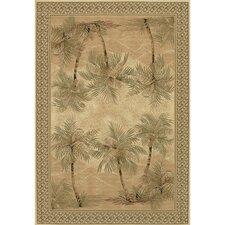 Everest Palm Tree Desert Sand Floral Rug