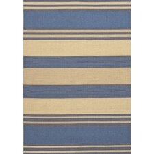 "Five Seasons South Padre Blue - Cream Contemporary Rug - 5'10"" x 9'2"""